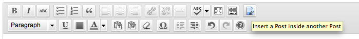 Post In Post - Toolbar Icon